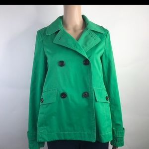 Green Trench Pea Coat